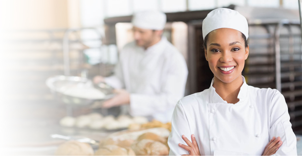Girl serving sandwiches